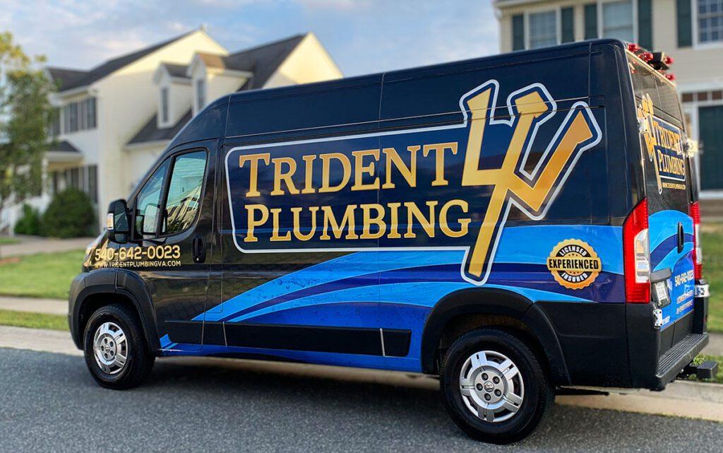plumbing work truck